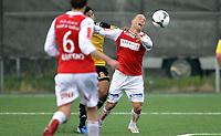 Fotball<br /> Norge<br /> 09.09.2012<br /> Foto: Morten Olsen, Digitalsport<br /> <br /> Adeccoligaen<br /> Bærum v Bryne 5:4<br /> <br /> Kai Risholt - Bryne<br /> Felles og Bryne får straffespark på overtid
