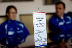 Press conference of Kayak and Canoe Federation of Slovenia, on November 12, 2009, in Arena Tivoli, Ljubljana, Slovenia.  (Photo by Vid Ponikvar / Sportida)