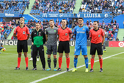 December 15, 2018 - Getafe, Madrid, Spain - Captains and referees during La Liga Spanish championship, , football match between Getafe and Real Sociedad, December 15, in Coliseum Alfonso Perez in Getafe, Madrid, Spain. (Credit Image: © AFP7 via ZUMA Wire)