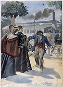 Elizabeth of Bavaria (1827-1898), Empress of Austria, wife of Emperor Franz Joseph. Elizabeth stabbed by an anarchist at Geneva. From 'Le Petit Journal', Paris, 25 September 1898.