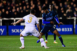 Mark Little of Bristol Rovers is marked by Sam Wood of Bromley  - Mandatory by-line: Ryan Hiscott/JMP - 19/11/2019 - FOOTBALL - Hayes Lane - Bromley, England - Bromley v Bristol Rovers - Emirates FA Cup first round replay