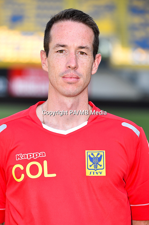 STVV's assistant coach Chris O'Loughlin poses for the photographer during the 2015-2016 season photo shoot of Belgian first league soccer team STVV, Friday 17 July 2015 in Sint-Truiden.