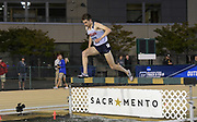 May 24, 2019; Sacramento, CA, USA; Kellen Manley (437) of Gonzaga runs 8:57.84 in a steeplechase heat during the NCAA West Preliminary at Hornet Stadium.
