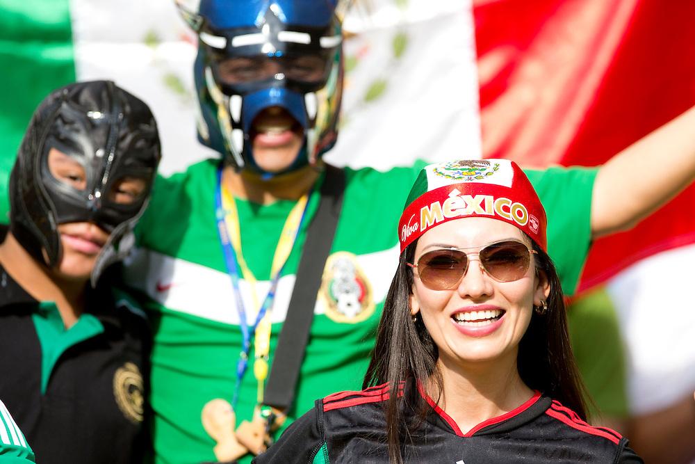 Rio De Janeiro_Rj, Brazil.<br /> <br /> Copa das Confederacoes 2013. Jogadores de Mexico e Italia disputam partida pela primeira fase da copa das confederacoes, em jogo valido do grupo A no estadio do Maracana. Italia 2x1 Mexico.<br /> <br /> The 2013 FIFA Confederations Cup. Players from Mexico and Italy played the first phase of the Confederations Cup in Group A in the Maracana stadium. Italy 2x1 Mexico.<br /> <br /> Foto: MARCUS DESIMONI / NITRO