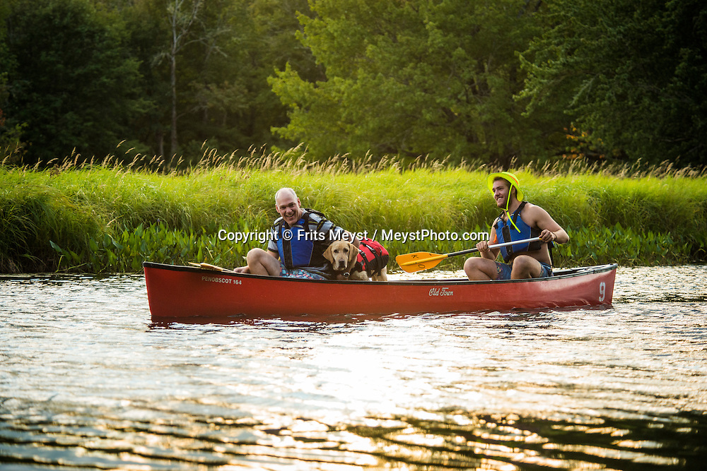 """Nova Scotia, Canada, August 2014. Visitors to Kejimkujik National Park can explore these traditional waterways by canoe, following the same routes that were once taken by Archaic Indians, Woodland Indians and then the Mi'kmaq. Nova Scotia was one of the original four provinces that became part of Canada in 1867.  """"Nova Scotia"""" is Latin for """"New Scotland"""", and Scottish settlers brought culture and traditions that continue to this day. Photo by Frits Meyst / MeystPhoto.com"""
