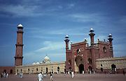 The huge mogul Badshahi-Mosque, Lahore,Punjab,Pakistan