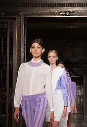 © Licensed to London News Pictures. 14/09/2012. London, England. Fashion show of designer Krystof Strozyna at Vauxhall Fashion Scout during London Fashion Week. Photo credit: Bettina Strenske/LNP