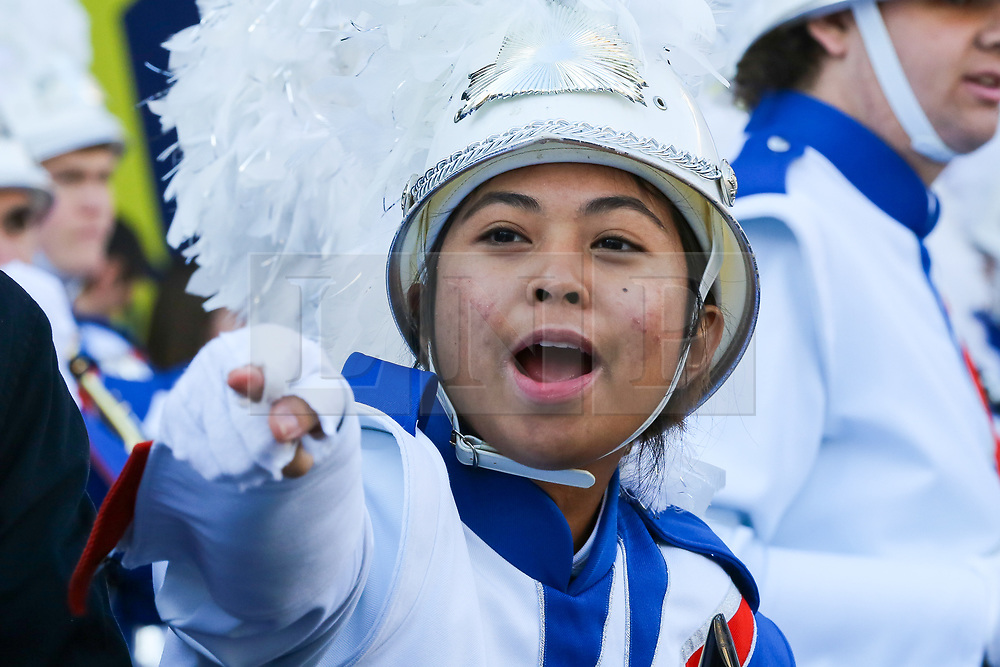 © Licensed to London News Pictures. 30/12/2019. London, UK. A performer from West Orange High School at the preview of the London New Year's Day Parade in Covent Garden Piazza.<br /> The London New Years Day Parade, in its 32nd year will take place on 1 January 2020 and will feature more than 10,000 performers from across the world. Photo credit: Dinendra Haria/LNP