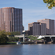 Hartford Connecticut Skyline from  Connecticut River