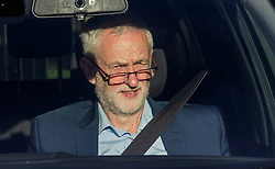 © Licensed to London News Pictures. 12/06/2017. London, UK. Leader of the Labour Party JEREMY CORBYN seen leaving the Houses of Parliament in a car. Over the weekend British prime minister Theresa May formed a new cabinet and continues discussions with the DUP in an attempt to form a new government. Photo credit: Ben Cawthra/LNP