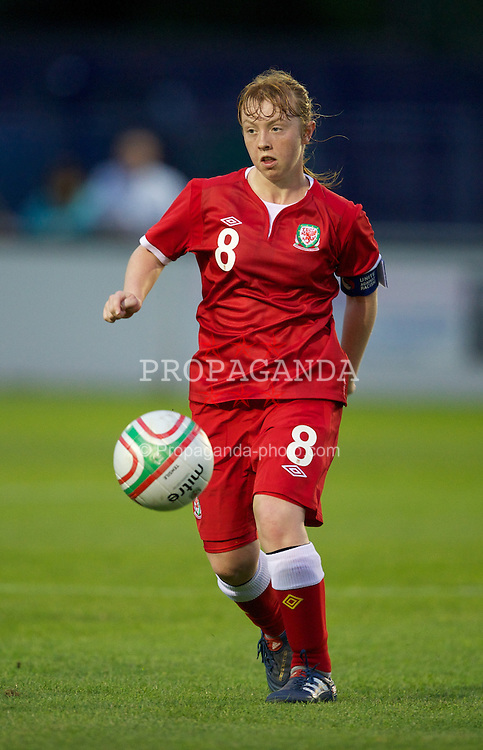 BROUGHTON, WALES - Friday, September 9, 2011: Wales' captain Rachel Hignett (Bristol Academy) in action against Denmark during an international friendly women's Under-17 match at the Airfield. (Pic by David Rawcliffe/Propaganda)