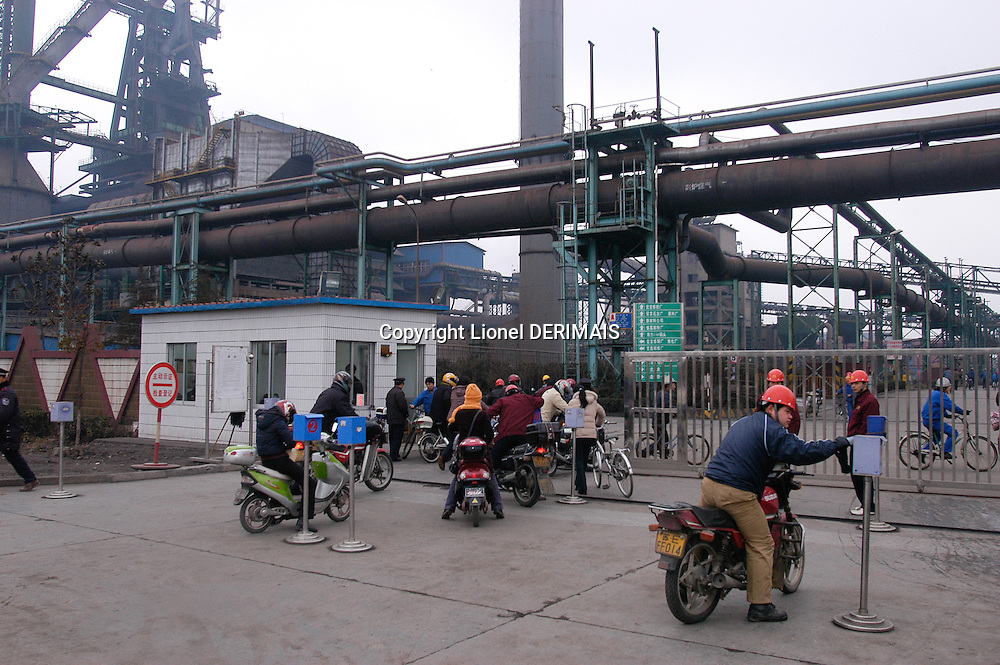 Shagang steel plant in Jinfeng in the Yang Tse delta on February 25th and 26th 2006 SHEN Wenrong Shagang CEO bought this Phoenix plant from the ThyssenKrupp group in Dortmund in 2002 and after dismantling it for a year the 250 000 tonnes were sent to China in crates along with 40 tonnes of documents to help reassembling the plant The Shagang group employ 9800 people, Zhejiang, China.