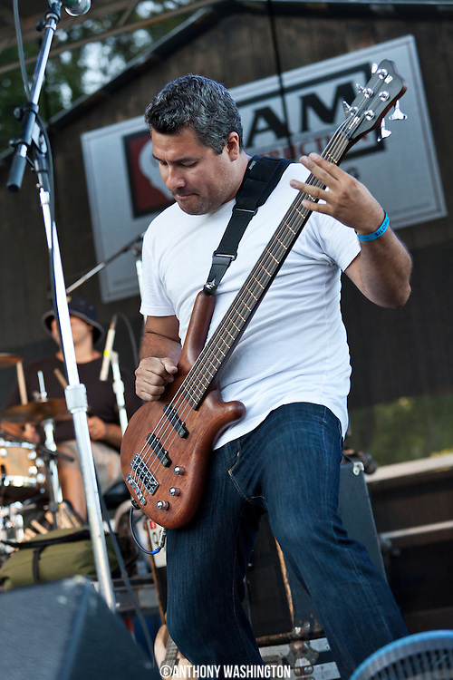 Christian Valiente of the band Jimmie's Chicken Shack performs during the Silopanna Music Festival at the Anne Arundel County Fairgrounds in Crownsville, MD on Saturday, August 16, 2014.