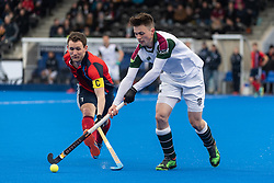 Surbiton's Zach Wallace. Hampstead & Westminster v Surbiton - Men's Hockey League Final, Lee Valley Hockey & Tennis Centre, London, UK on 29 April 2018. Photo: Simon Parker