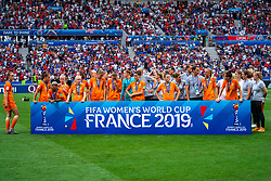 07-07-2019 FRA: Final USA - Netherlands, Lyon<br /> FIFA Women's World Cup France final match between United States of America and Netherlands at Parc Olympique Lyonnais. USA won 2-0 / Team Netherlands