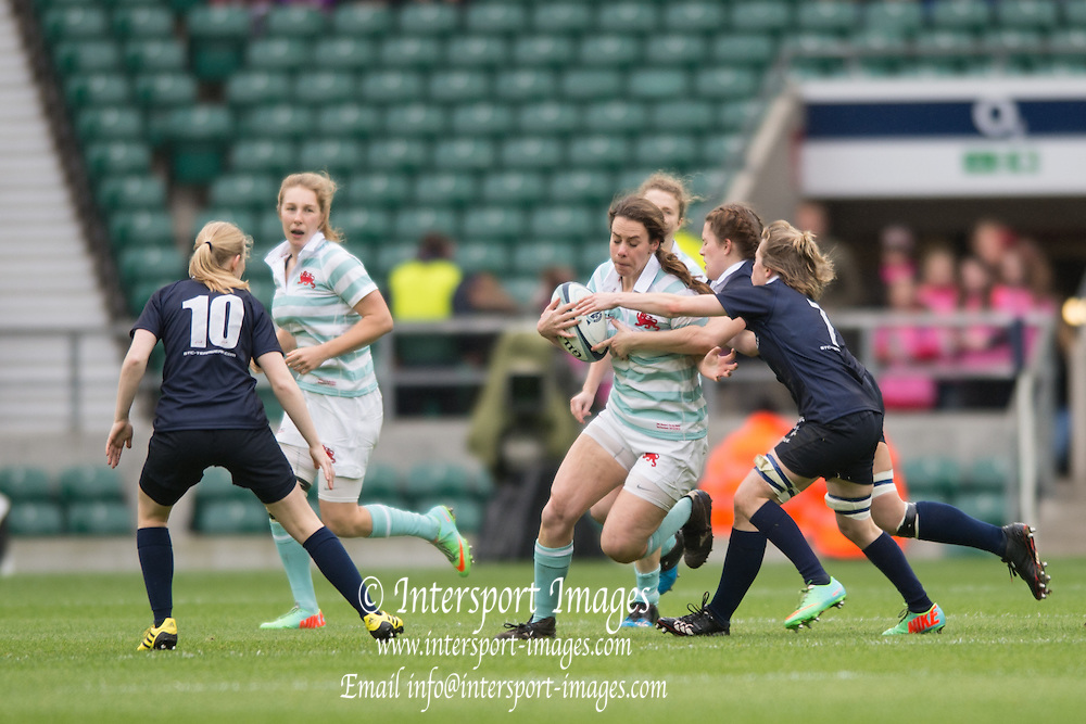 Twickenham, United Kingdom.  Nikki WECKMAN in early action during the 2015 Women's Varsity Match, Oxford vs Cambridge, RFU Twickenham Stadium, England.<br /> <br /> Thursday  10/12/2015<br /> <br /> [Mandatory Credit. Peter SPURRIER/Intersport Images].