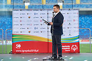Chorzow, Poland - 2018 June 12: Closing Ceremony of National Special Olympics Games 2018 at Slaski Stadium on June 12, 2018 in Chorzow, Poland.<br /> <br /> Adam Nurkiewicz declares that he has no rights to the image of people at the photographs of his authorship.<br /> <br /> Picture also available in RAW (NEF) or TIFF format on special request.<br /> <br /> Any editorial, commercial or promotional use requires written permission from the author of image.<br /> <br /> Image can be used in the press when the method of use and the signature does not hurt people on the picture.<br /> <br /> Mandatory credit:<br /> Photo by © Adam Nurkiewicz / Mediasport