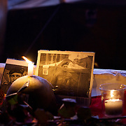 January 24, 2014 - Kiev, Ukraine: A shrine for one of the protestors killed during clashes with the security forces in Kiev early in the week, is seen at the makeshift camp in the capital's Independence Square, also known as Maidan. (Paulo Nunes dos Santos)