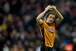 WOLVERHAMPTON, ENGLAND - Sunday, December 12, 2010: Wolverhampton Wanderers' Stephen Hunt applauds the supporters after his side's 1-0 victory over Birmingham City during the Premiership match at Molineux Stadium. (Pic by: David Rawcliffe/Propaganda)