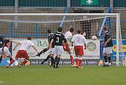Ross Forsyth equalises for Stirling Albion - Stirling Albion v Dundee, IRN BRU Scottish League 1st Division, Forthbank Stadium, Stirling<br /> <br />  - © David Young<br /> ---<br /> email: david@davidyoungphoto.co.uk<br /> http://www.davidyoungphoto.co.uk