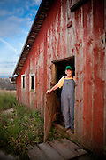 Portrait of a farmer in Iowa<br />