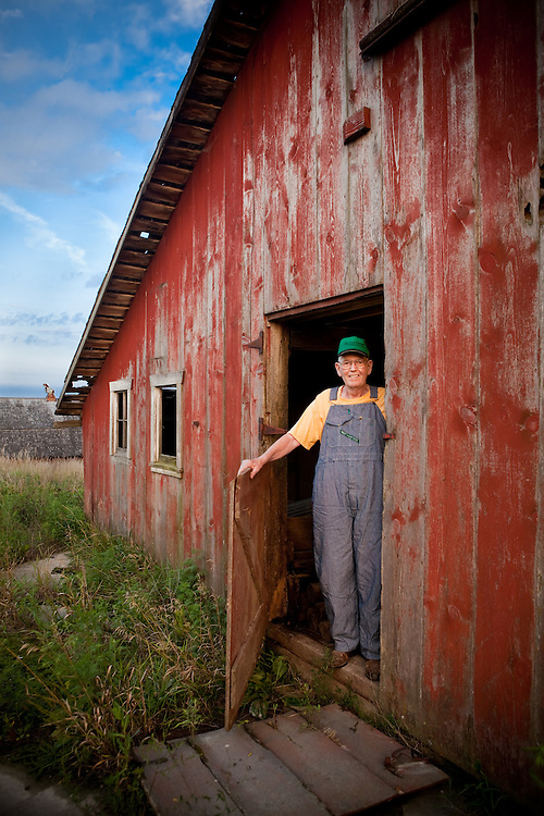 Portrait of a farmer in Iowa<br /> Photographed by editorial lifestyle photographer Nathan Lindstrom