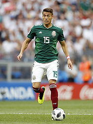 Hector Moreno  of Mexico during the 2018 FIFA World Cup Russia group F match between Germany and Mexico at the Luzhniki Stadium on June 17, 2018 in Moscow, Russia