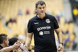 Gregor Cvijic, head coach of RK Gorenje during handball match between RK Celje Pivovarna Lasko and RK Gorenje Velenje in Eighth Final Round of Slovenian Cup 2015/16, on December 10, 2015 in Arena Zlatorog, Celje, Slovenia. Photo by Vid Ponikvar / Sportida