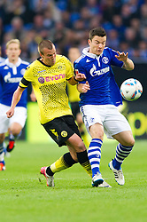 23.07.2011, Veltins arena, Gelsenkirchen, GER, Supercup, FC Schalke 04 vs. Borussia Dortmund, im Bild Kevin Grosskreutz (#19 Dortmund) - Alexander Baumjohann (#11 Schalke) // during the match FC Schalke 04 vs. Borussia Dortmund at Veltins arena 2011/07/23    EXPA Pictures © 2011, PhotoCredit: EXPA/ nph/  Kurth       ****** out of GER / CRO  / BEL ******