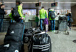 Hockey players during departure of Slovenia Olympic Team for PyeongChang 2018, on February 6, 2018 in Airport Joze Pucnik, Brnik, Slovenia. Photo by Morgan Kristan / Sportida