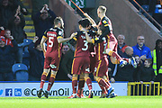 GOAL Ryan McGowan celebrates scoring 0-2 during the EFL Sky Bet League 1 match between Rochdale and Bradford City at Spotland, Rochdale, England on 29 December 2018.