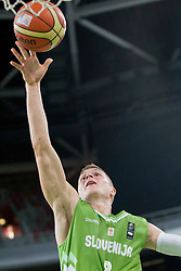 Edo Muric of Slovenia during basketball match in the context of Telemach tournament between National Teams of Slovenia and Iran on August 21, 2014 in SRC Stozice, Ljubljana, Slovenia. Photo by Urban Urbanc / Sportida.com