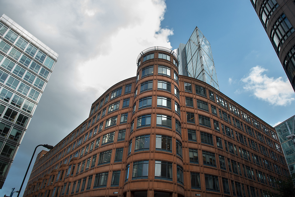 The Credit Agricole building, Broadwalk House, Appold Street, The City of London, Britain.