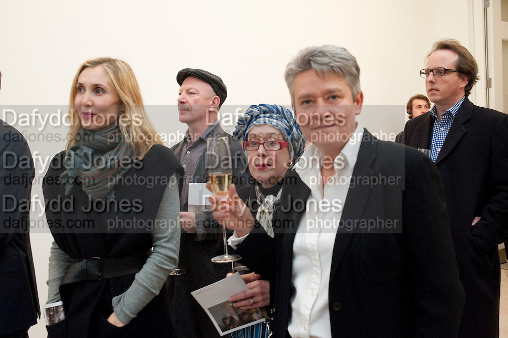 ALLEGRA HICKS; NIKKI BELL, Richard Wilson Vertu Global Art Commission. Saatchi Gallery. Duke of York's HQ. London. 13 April 2011. -DO NOT ARCHIVE-© Copyright Photograph by Dafydd Jones. 248 Clapham Rd. London SW9 0PZ. Tel 0207 820 0771. www.dafjones.com.