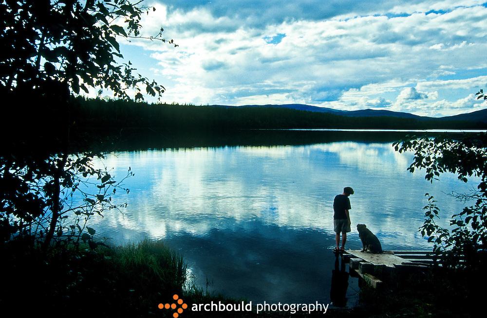 Yukon lake in summer.