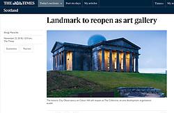 The Times; Collective art gallery on Calton Hill, Edinburgh
