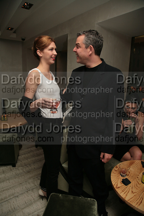 MARGOT STILLEY AND DANNY HUSTON, Party hosted by Larry Gagosian at Nobu, Berkeley St. London. 9 October 2007. -DO NOT ARCHIVE-© Copyright Photograph by Dafydd Jones. 248 Clapham Rd. London SW9 0PZ. Tel 0207 820 0771. www.dafjones.com.