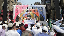 November 21, 2018 - Kolkata, West Bengal, India - Street decorates on the occasion of Eid-e-Milad festival marking the anniversary of Prophet Muhammad's birth. (Credit Image: © Saikat Paul/Pacific Press via ZUMA Wire)