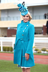 Miss England Stephanie Hill  during Ladies Day of the 2018 Cheltenham Festival at Cheltenham Racecourse. PRESS ASSOCIATION Photo. Picture date: Wednesday March 14, 2018. See PA story RACING Cheltenham. Photo credit should read: Tim Goode/PA Wire. RESTRICTIONS: Editorial Use only, commercial use is subject to prior permission from The Jockey Club/Cheltenham Racecourse.