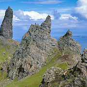 The stacks surrounding the Old Man of Storr, Trotternish, Isle of Skye