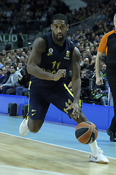 March 2, 2018 - Madrid, Madrid, Spain - DATOME  LUIGI of Fenerbahce Dogus in action  during the Turkish Airlines Euroleague basketball match between Real Madrid and Fenerbahce Dogus at the Wizink Center in Madrid, Spain on March 2, 2018. Photo: Oscar Gonzalez/NurPhoto  (Credit Image: © Oscar Gonzalez/NurPhoto via ZUMA Press)