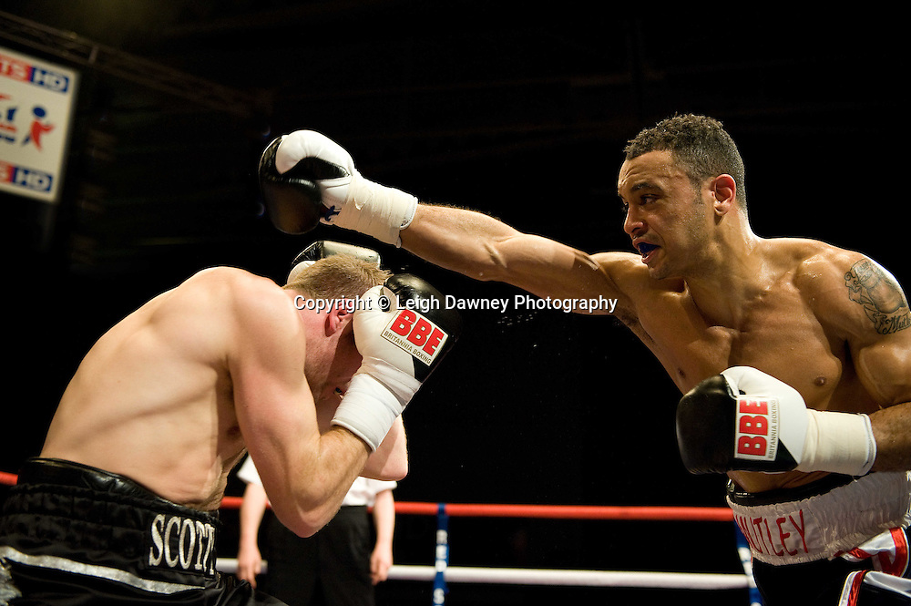 Young Mutley defeats Scott Woolford at the Harvey Hadden Leisure Centre, Nottingham, 5th February 2010 Frank Maloney Promotions.  Photo credit © Leigh Dawney