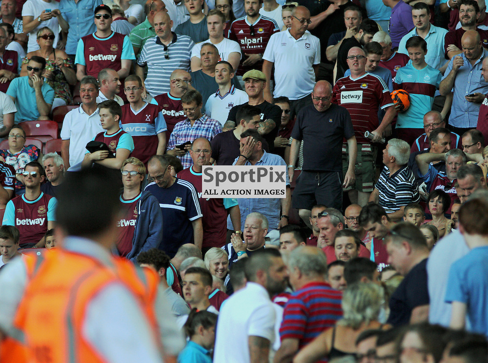 west ham fans leave early During West Ham United vs Bournemouth FC on Saturday the 22nd August 2015