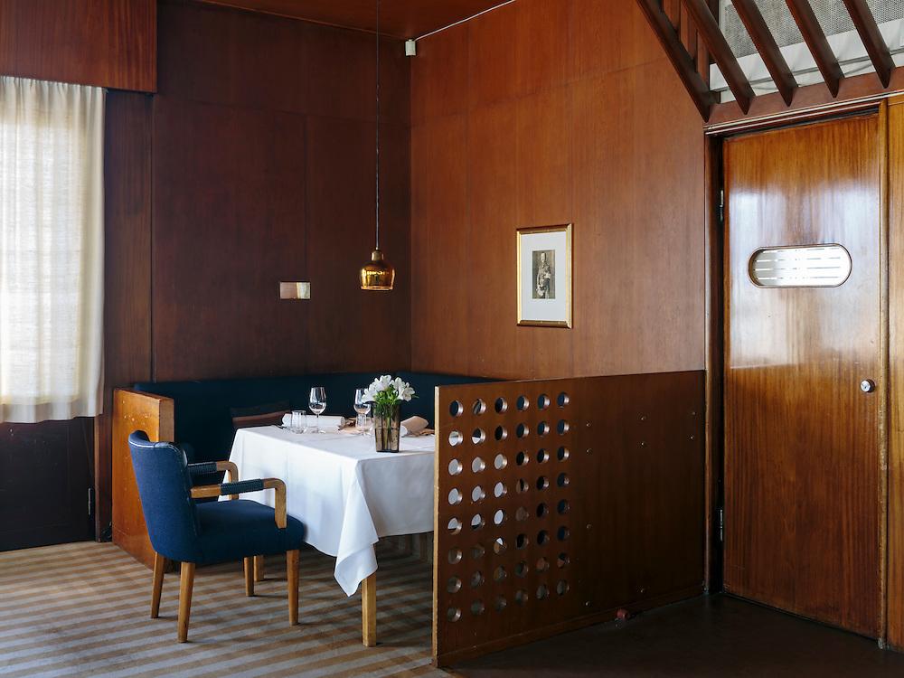 The table of Mannerheim in Restaurant Savoy in Helsinki, Finland
