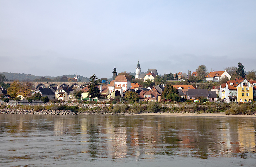 Austria:  Emmersdorf on the Danube River between Melk and Durnstein.