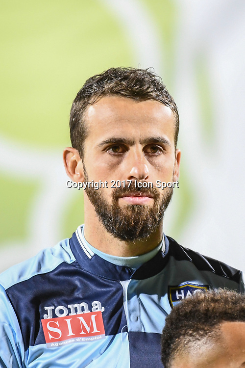 Alexandre Bonnet of Le Havre during the Ligue 2 match between Quevilly Rouen and Le Havre on October 27, 2017 in Rouen, France. (Photo by Anthony Dibon/Icon Sport)