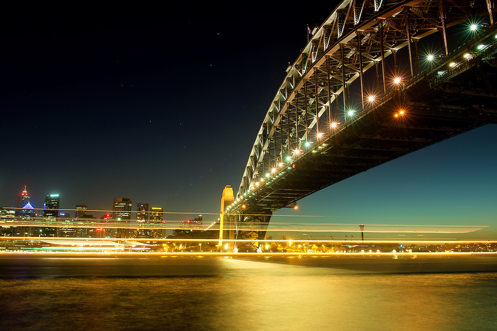 Sydney Harbour Bridge Night Scenery