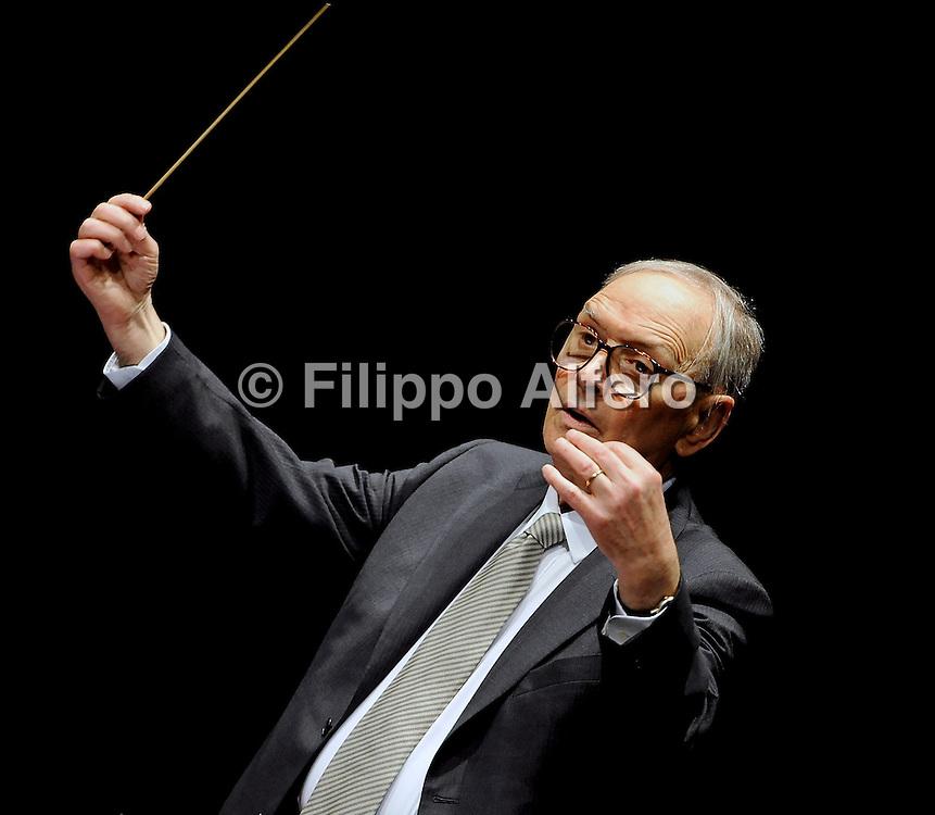© Filippo Alfero<br /> Torino , 22/05/2008<br /> Spettacolo<br /> Ennio Morricone in concerto a Torino