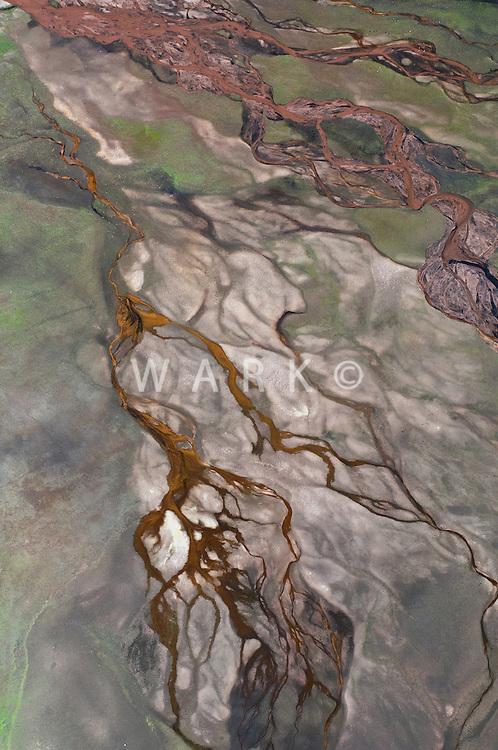 pattern in stream bed, near Florissant, Colorado