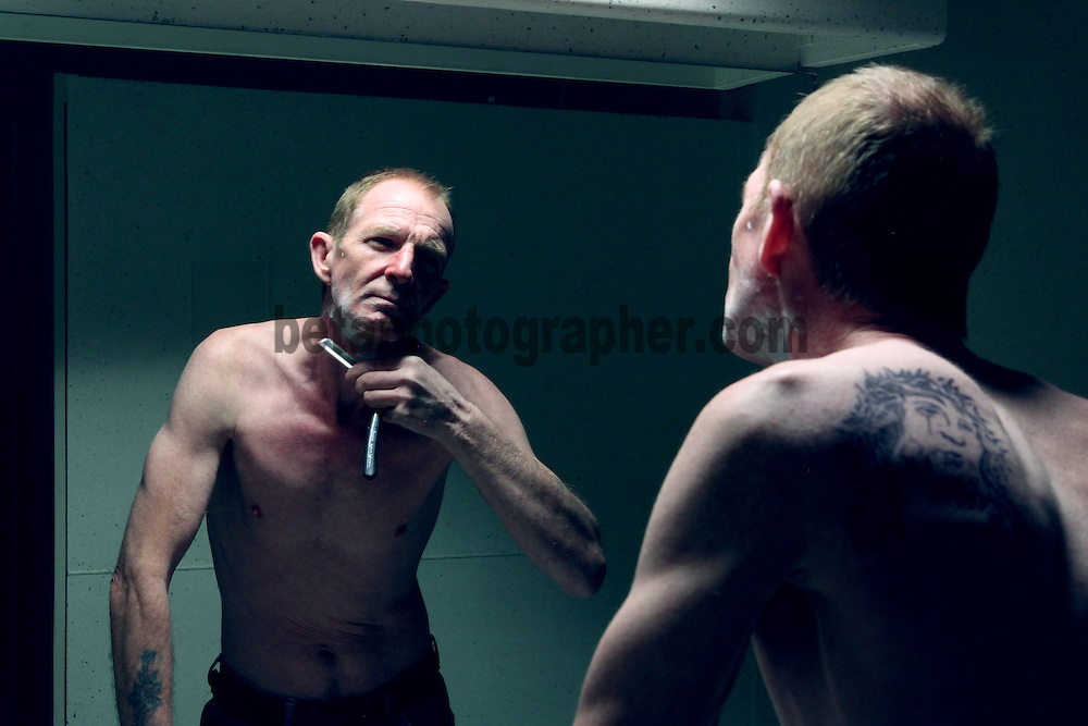 Fair City Eps 52<br /> TX: Sunday 24th March  2013<br /> Paddy Bishop prepares for the day<br /> L-R<br /> Paddy - Andrew Connolly